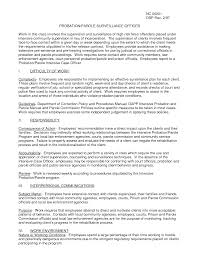 Probation Officer Resume Correctional Officer Resume Resume Badak 16