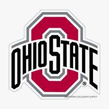 osu ohio state university buckeyes large decals set of 2
