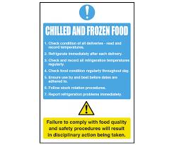 Safe Food Temperatures Chart Uk Chilled Frozen Food Notice Cs095 Food Storage Temp