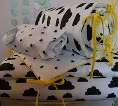 monochrome 100 cotton cot bed duvet cover set boys stars clouds black and white per ed sheet