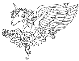 New Pegasus Coloring Pages 155 For Girls Free Printable Coloring Pages