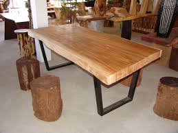 dining table reclaimed solid slab acacia wood extremely by flowbkk 5 600 00