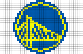 Golden State Warriors Pixel Art – BRIK