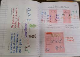 math love linear vs non linear functions inb pages