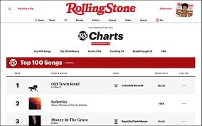 Music Charts Rolling Stone Music Charts Go Live 07 09 2019
