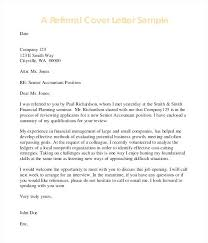 Employee Referral Cover Letters Cover Letter Employee Referral Sample Example Referred By Family