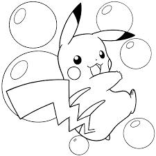 Pokemon Pikachu Coloring Pages Free Mewarnai Gambar Bonikids Page