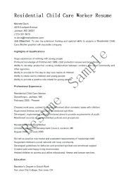 Day Care Resume Child Care Worker Resume Keralapscgov