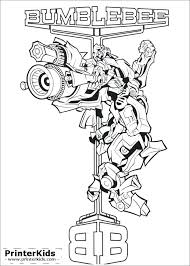 Transformer Coloring Pages Free Drawn Bumblebee Transformer