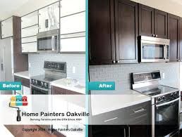 cabinet refacing vs painting. Brilliant Painting Painted Vs Stained Kitchen Cabinets Cabinet Refacing Before And After Photo  Budget Then Paint Or Stain Old  Inside Painting H
