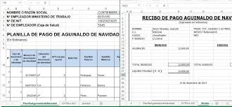 Planilla Aguinaldos Ministerio De Trabajo Formato Excel Con