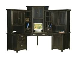 corner office desk hutch. Black Office Desk Hutch Perfect Computer With Large Corner Center Home Wood . D