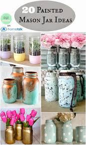 Painted Mason Jars Best 25 Painted Jars Ideas On Pinterest Painted Mason Jars