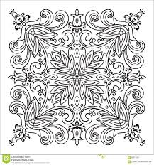 Hand Drawing Zentangle Mandala Element Italian Majolica Style Stock