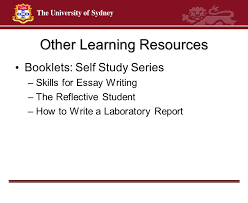 welcome dr michael paton teaching quality fellow faculty of  10 other learning resources booklets self study series skills for essay writing the reflective student how to write a laboratory report