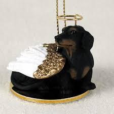 dachshund dog figurine angel statue black 180741555059 jpg