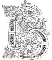 Illuminated Alphabet Coloring Pages Illuminated Manuscript