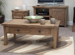 Oak Furniture Living Room Tilson Solid Rustic Oak Living Room Lounge Furniture Coffee Table
