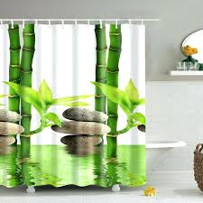 bamboo shower curtain custom with hooks fabric