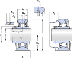 Pedestal Bearing Size Chart Ball Bearing Plummer Block Units Sy 50 Tf