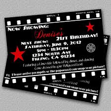 hollywood 21st birthday invitations hollywood invitations template kqtwqfwu