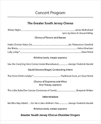 sample concert program concert program concert program arizona girlchoir program concert