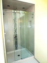 mesmerizing frameless sliding shower door seal skyline series of sliding glass shower doors door pics frameless