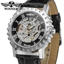 online buy whole mens watch companies from mens watch wrg8036m3s1 winner mechanical handwind skeleton men gift box watch black leather strap factory company shipping