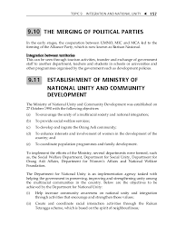 topic integration and national unity 14 topic 9 integration and national unity