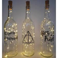 Decorative Wine Bottles With Lights Home Decorating Ideas Bathroom Wine bottle lights Harry Potter 57