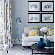 grey, yellow & blue. Grey Living RoomsBlue ...
