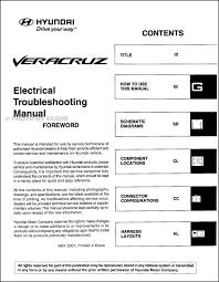 hyundai veracruz wiring diagram wiring diagrams 2008 hyundai veracruz electrical troubleshooting manual original