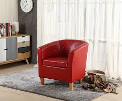 sentinel foxhunter faux leather pu tub chair armchair dining room modern office furniture
