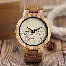 online buy whole vintage style watch from vintage style 2017 new arrival unique dial design wood bamboo watches men luxury leather strap vintage style watch