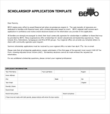 Scholarship Aplication Form Scholarship Application Template 10 Free Word Pdf