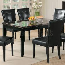 marble dining room table darling daisy: anisa dining table w black faux marble top coaster furniture