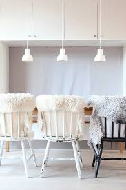a set of three white pendants porcelight p14 pendant lamps by danish designer erik magnussen look stunning also from my scandinavian home