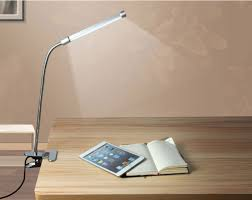 led flexible usb reading light clip on beside bed table desk lamp eye protection