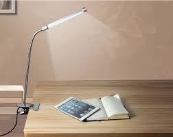 led flexible usb reading light clip on beside bed table desk lamp eye protection