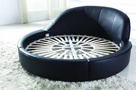Circular Bed B807 Modern Round Eco Leather Bed