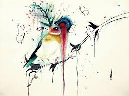 1024x768 abstract bird art