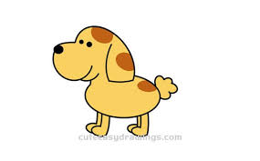 how to draw a cartoon dog easy step by