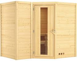 Sauna En Bois Massif Karibu Mahib 2 Sans Po Le Ni Couronne Avec