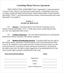 Standard Service Contract. Posts Standard Form Of Agreement For ...