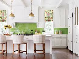 green and pink kitchen designed by katie rosenfeld in atlanta