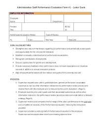 Employee Performance Write Up Template