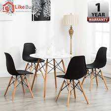 Casa Muebles Eames Kitchen Round Dining Table Set With 4 Units Eames