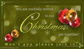 Christmas Invitation Card Merry Christmas Invitation Free Invitations Ecards