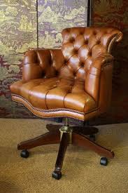 leather desk chair. Fully Upholstered Captain\u0027s Chair Desk In Leather