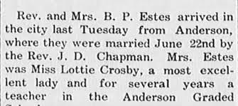 Lottie Crosby Estes wedding - Newspapers.com
